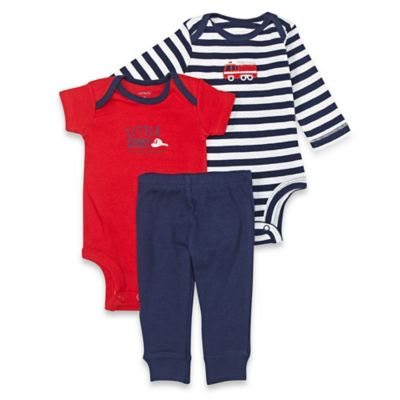 carter's® Size 6M 3-Piece Firetruck Bodysuit and Pant Set in Navy/Red