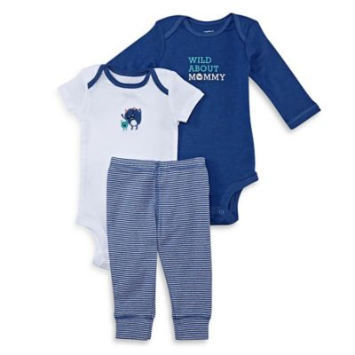 carter's® Size 6M 3-Piece Monster Bodysuit and Pant Set in Blue/White
