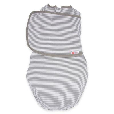Embe® Classic 2-Way Swaddle™ in Grey Stripe
