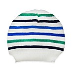 So'Dorable Size 0-6M Striped Knit Cap in Blue/Green
