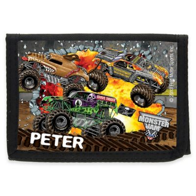 Monster Jam® Madness Child's Tri-Fold Wallet in Black