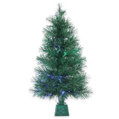 3-Foot LED Fiber Optic Pre-Lit Christmas Tree with Multi-Color Lights