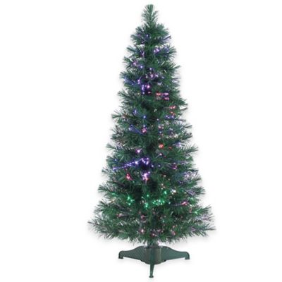 LED Fiber Optic 4-Foot Pre-Lit Christmas Tree with Multi-Color Lights