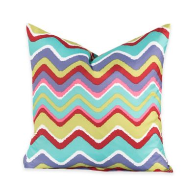 Crayola® Mixed Palette Chevron 16-Inch Square Throw Pillow