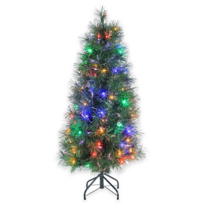 Fiberoptic 48-Inch Pre-Lit Christmas Tree with Multi-Color Lights