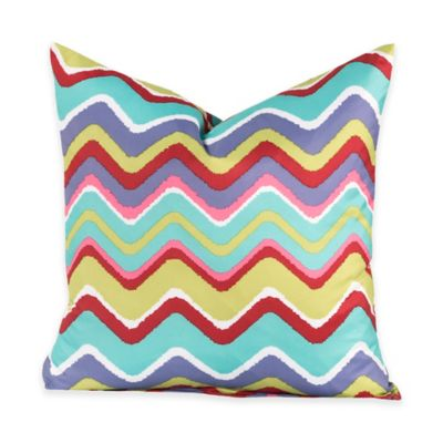 Crayola® Mixed Palette Chevron 18-Inch Square Throw Pillow