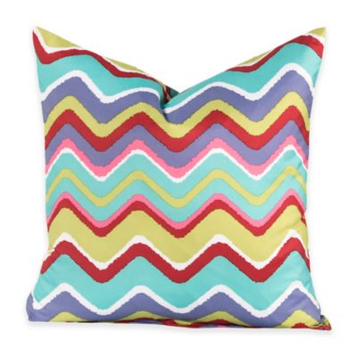 Crayola® Mixed Palette Chevron 20-Inch Square Throw Pillow