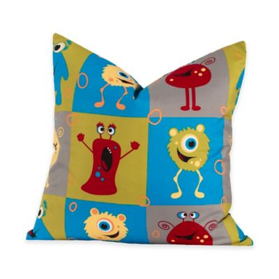 Crayola® Monster Friends 16-Inch Square Throw Pillow in Blue