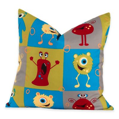 Crayola® Monster Friends 20-Inch Square Throw Pillow in Blue