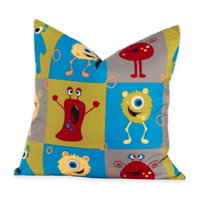 Crayola® Monster Friends 18-Inch Square Throw Pillow in Blue
