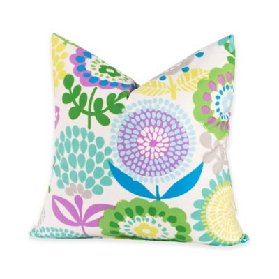 Crayola® Pointillist Pansy 17-Inch Square Throw Pillow