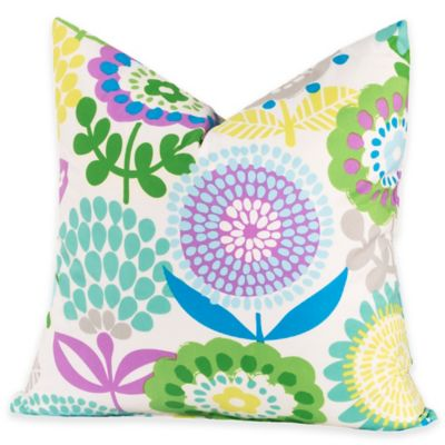 Crayola® Pointillist Pansy 26-Inch Square Throw Pillow