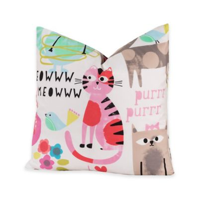 Pink / White Throw Pillow
