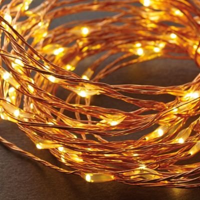 10-Foot 60-Count LED String Lights in Warm White/Copper