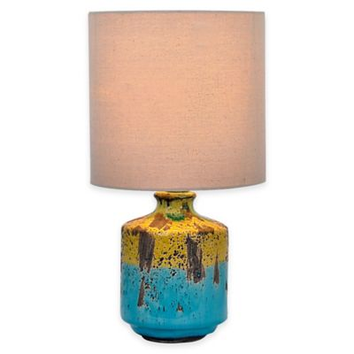 Blue Yellow Accent Lamp