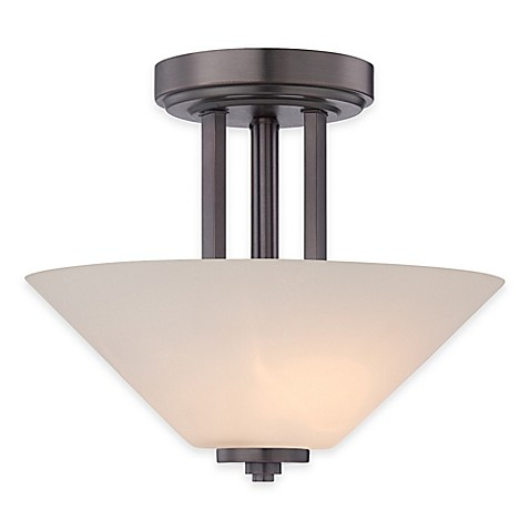 semi flush ceiling light in oil rubbed bronze from bed bath beyond. Black Bedroom Furniture Sets. Home Design Ideas