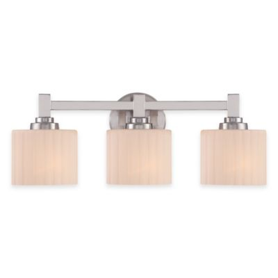 Illumina Direct Lillian 3-Light Vanity Fixture in Brushed Nickel