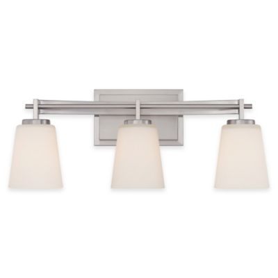 Illumina Direct 3-Light Julia Vanity Fixture in Brushed Nickel