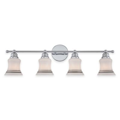 Illumina Direct Austin 4-Light Wall-Mount Vanity Light in Silver