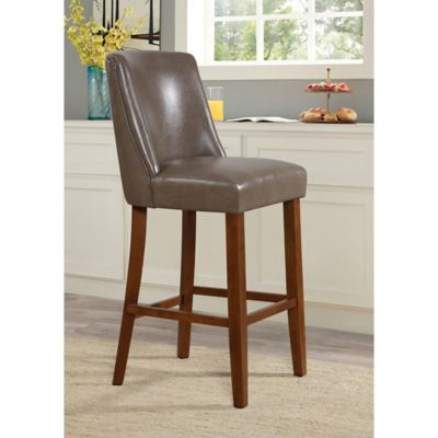 Linon Home Landon 24-Inch Counter Stool in Pebble