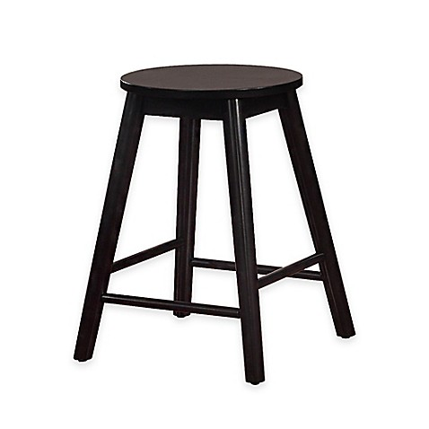 buy denville 24 inch backless counter stool in black from bed bath beyond. Black Bedroom Furniture Sets. Home Design Ideas