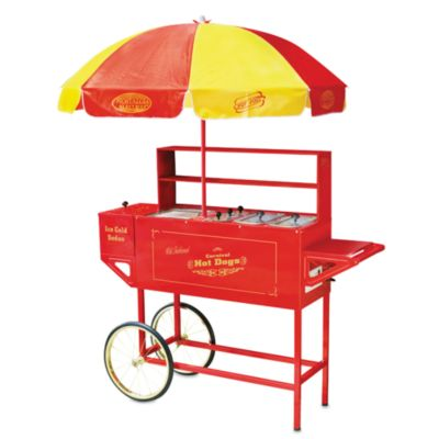 Nostalgia Electrics Large Hot Dog Cart with Umbrella