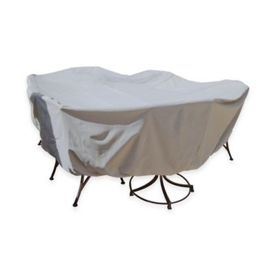 SimplyShade Polyester Protective Table and Chairs Cover in White