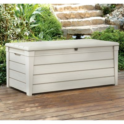 Keter Brightwood 120-Gallon Deck Box in White