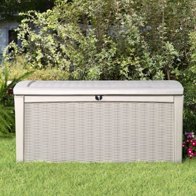 Keter® Borneo 110-Gallon Storage Deck Box in White