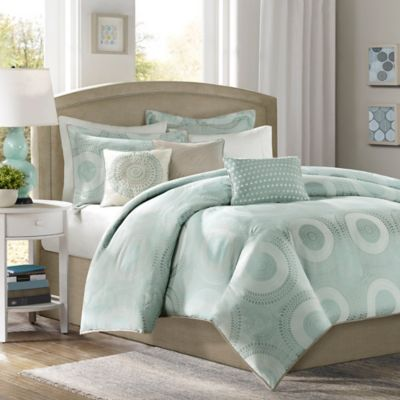 Madison Park Baxter King/California King Duvet Cover Set in Blue