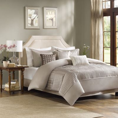Madison Park Trinity King/California King Duvet Cover Set in Grey