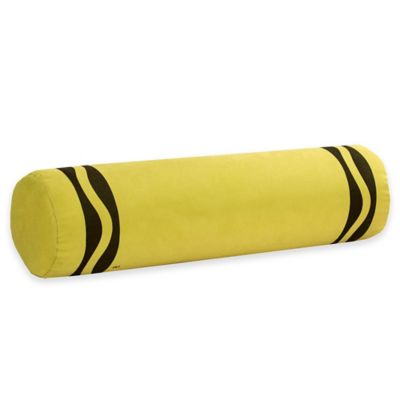 Crayola® Crayon Bolster Throw Pillow in Laser Lemon