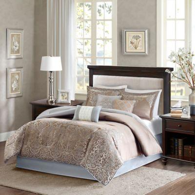 Madison Park Vanessa California King Comforter Set in Blue/Brown