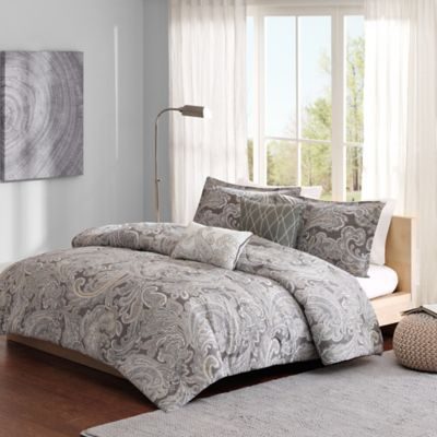Madison Park Pure Ronan 5-Piece Full/Queen Comforter Set in Blue