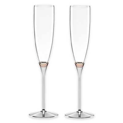 kate spade new york Rosy Glow Toasting Flutes (Set of 2)