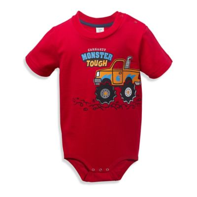 "Carhartt® Size 18M ""Monster Tough"" Bodysuit in Red"