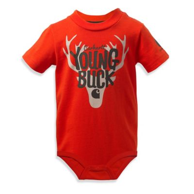 "Carhartt® Size 18M ""Young Buck"" Bodysuit in Orange"