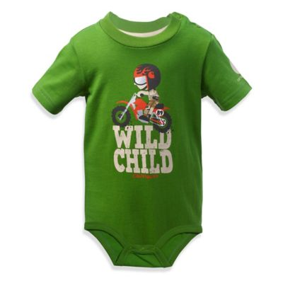 "Carhartt® Size 18M ""Wild Child"" Bodysuit in Green"