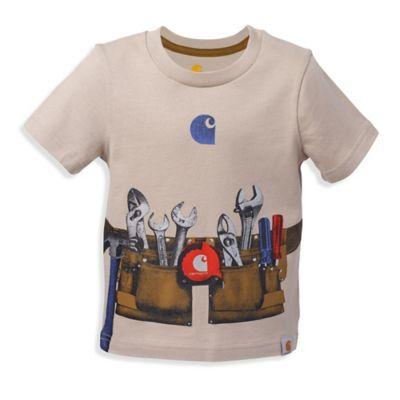 Carhartt® Size 2T Photo Real Tool Belt Short-Sleeve Shirt in Khaki