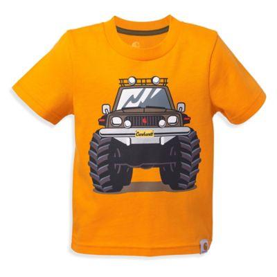 Carhartt® Size 2T Monster Truck Short-Sleeve Shirt in Orange
