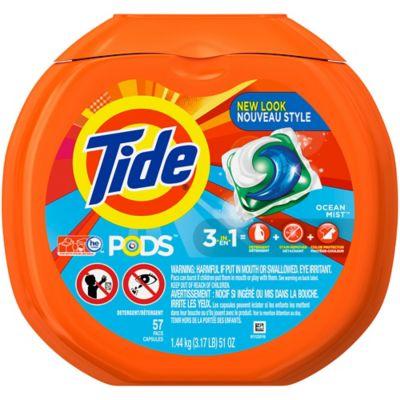 Tide® PODS 57-Count Laundry Detergent in Ocean Mist