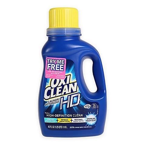 Oxiclean Hd 40 Oz Liquid Laundry Detergent In Sparkling