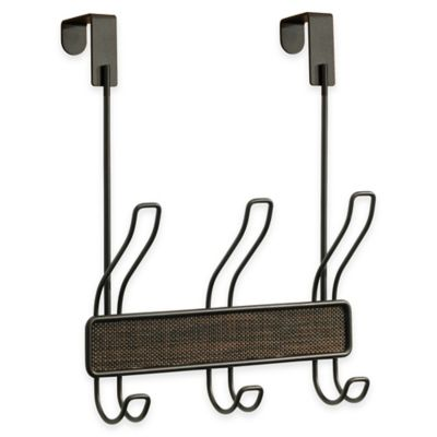InterDesign® Twillo Over-the-Door 3-Hook Coat Rack in Bronze