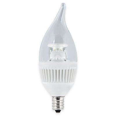 Feit Electric 4.8-Watt Flame Tip Chandelier Dimmable Performance LED Bulb