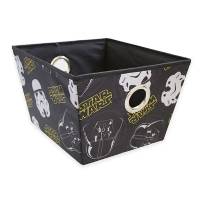 Star Wars™ Rectangular Storage Bin in Black