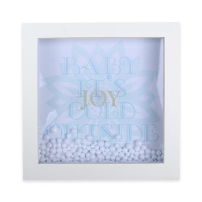 """6-Inch x 6-Inch Christmas Joy """"Baby It's Cold Outside"""" Shadowbox Wall Art"""