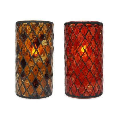 6-Inch Brown Mosaic LED Candle
