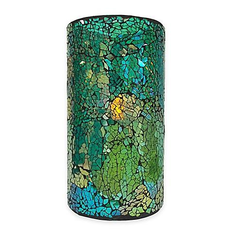 Blue Green Mosaic Led Candle Www Bedbathandbeyond Com