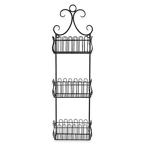 Buy Sheffield Home 3 Tier Wall Mount Storage Basket In