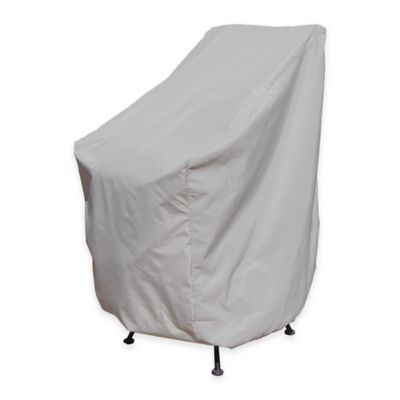 SimplyShade Polyester Protective Chair Stack Cover in White